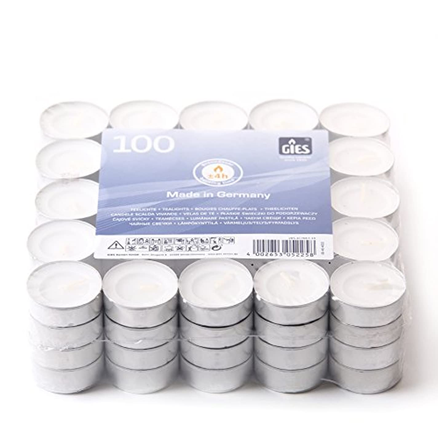 チーズそこ著名な2 Hour Unscented White Tea Lights (Pack of 100)