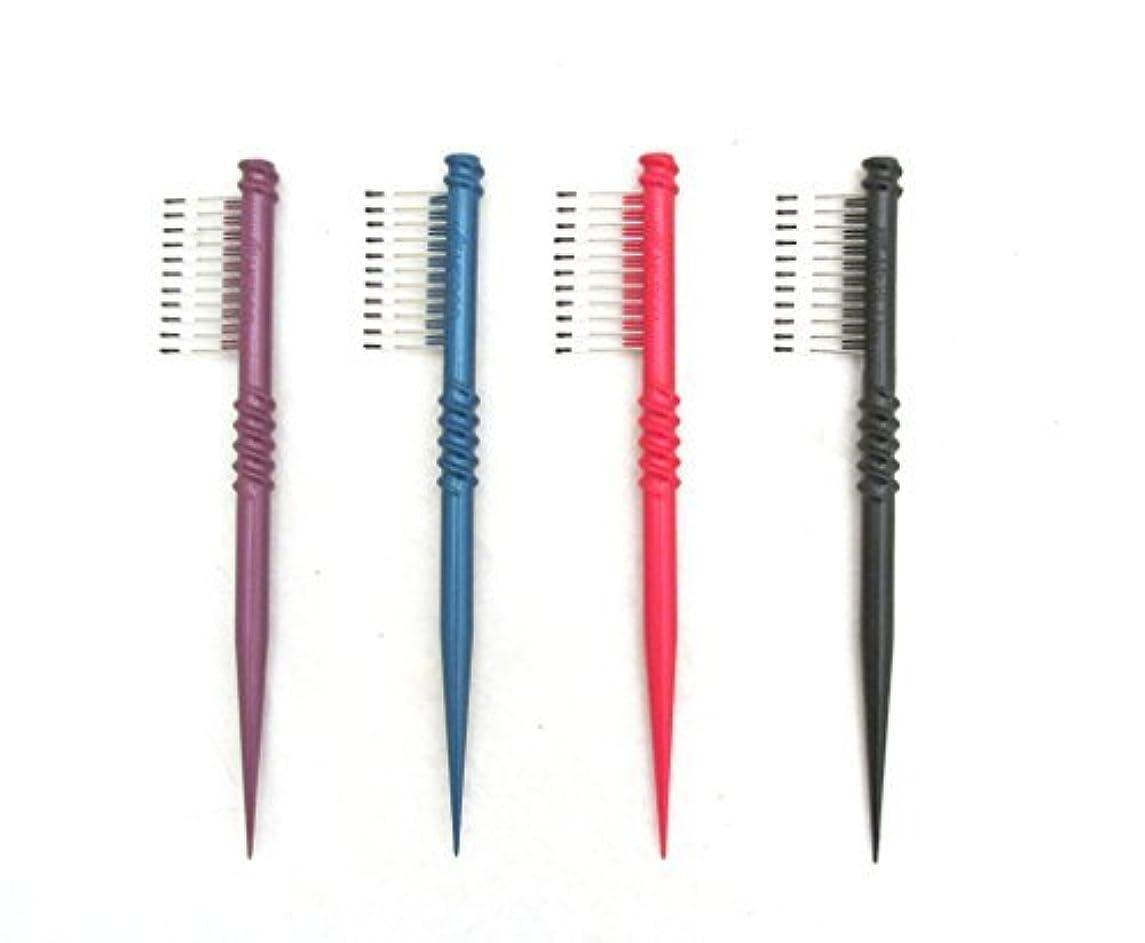 夜明けに別々にバルーンMEBCO 8  Touch-Up Comb (Model: TH1) - Get all 4 colors, Detangler, hair brush, hair comb, pick, pik, pulls out...