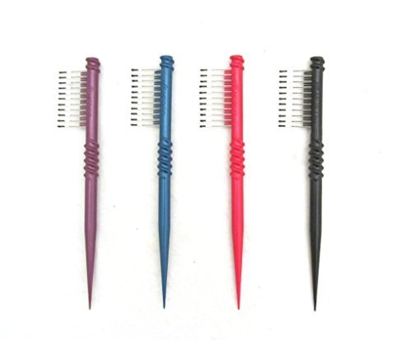 心のこもった独立栄光MEBCO 8  Touch-Up Comb (Model: TH1) - Get all 4 colors, Detangler, hair brush, hair comb, pick, pik, pulls out...