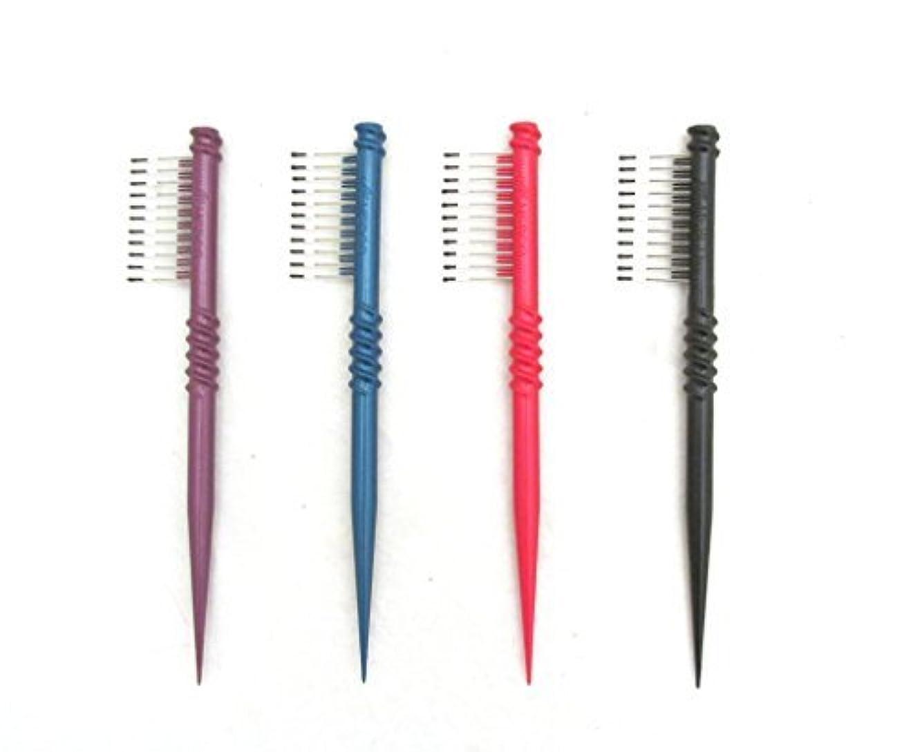 おじさんかわす私達MEBCO 8  Touch-Up Comb (Model: TH1) - Get all 4 colors, Detangler, hair brush, hair comb, pick, pik, pulls out...