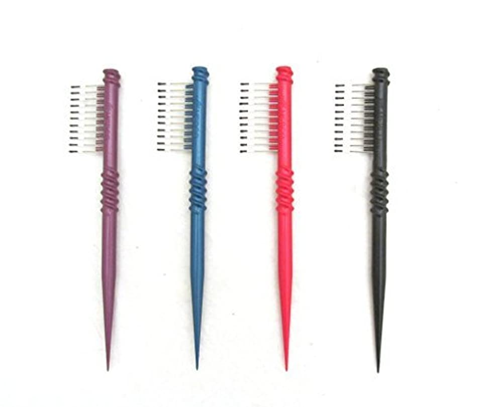 肺マウス知覚的MEBCO 8  Touch-Up Comb (Model: TH1) - Get all 4 colors, Detangler, hair brush, hair comb, pick, pik, pulls out...