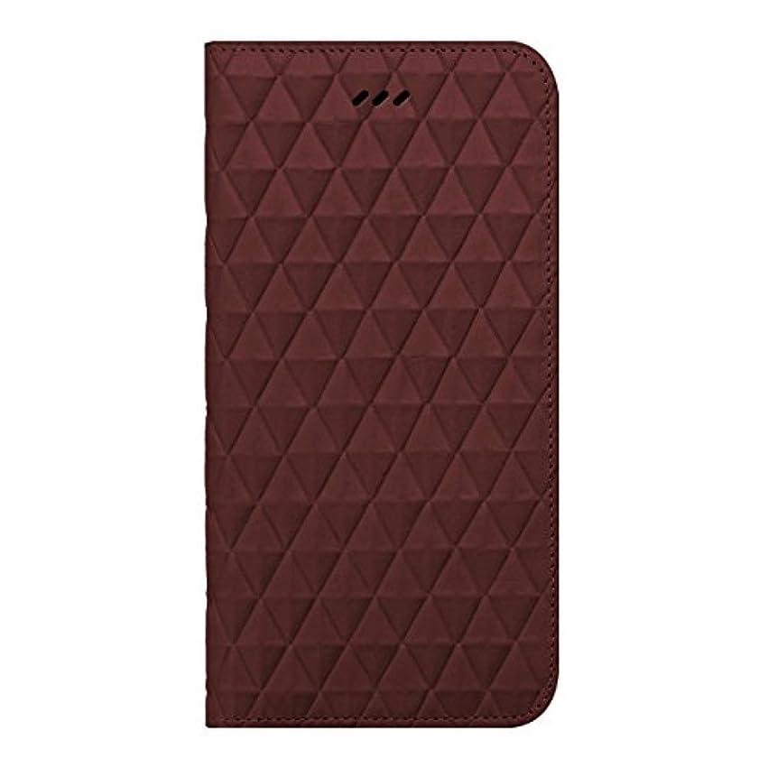 通り抜ける修士号広告主【日本正規代理店品】araree iPhone 6s Plus/6 Plus レザーケース 本革 Diamond Cube Diary ワイン ダイアリータイプ 左開き AR5729i6P