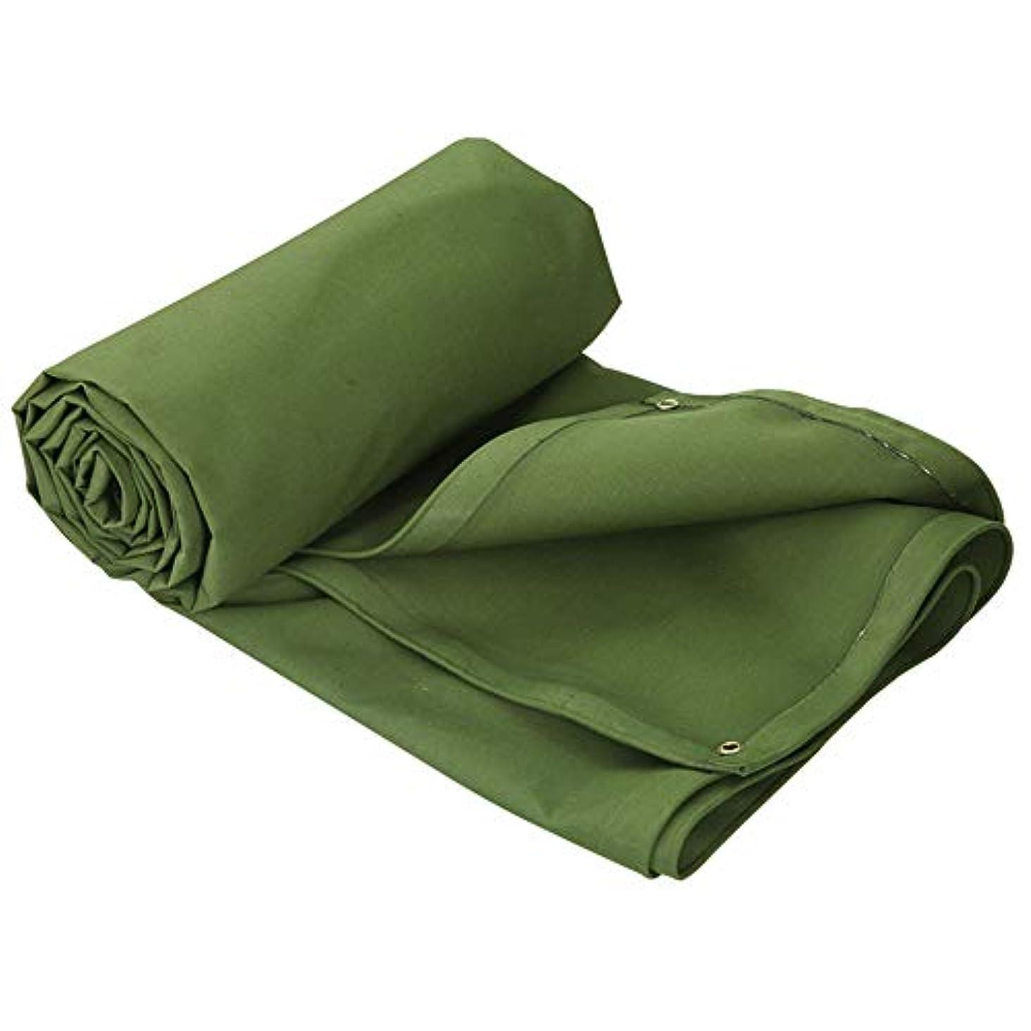 私スリーブ硬化するトラック防雨布|屋外の日よけ布|両面防水キャンバス - グリーン