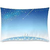 可愛い 子供 流れ星を眺める猫のカップル 座布団 50cm×72cm