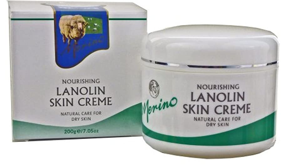 嬉しいです結果としてキャンディーDry Skin Lanolin Cream by Merino 200gm/7.05oz Medium Jar by Merino Skin Care [並行輸入品]