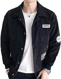 maweisong メンズファッションの長い袖のスエードレザーのスタイリッシュなジャケット