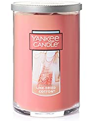 Yankee Candle Jar Candle、line-driedコットン Large 2-Wick Tumbler Candle ピンク 1351643