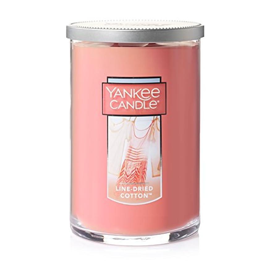 バラ色距離小切手Yankee Candle Jar Candle、line-driedコットン Large 2-Wick Tumbler Candle ピンク 1351643