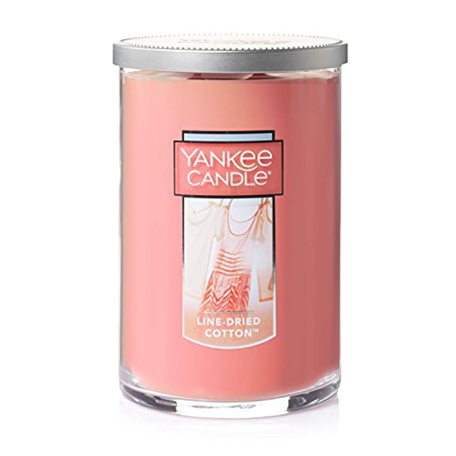 歌概して設計図Yankee Candle Jar Candle、line-driedコットン Large 2-Wick Tumbler Candle ピンク 1351643