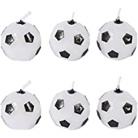 6pcsかわいいサッカーボールFootball誕生日パーティーケーキキャンドルDecorations Suppliesツールfor Kids Toyギフトデコレーションforホーム