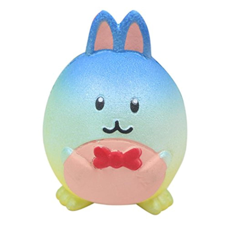 boomdan Cute Small Rabbit Colored RabbitシミュレータジャンボカラフルウサギSquishyキュートスーパーSlow Rising香りつき楽しい動物おもちゃ dfsg56+32