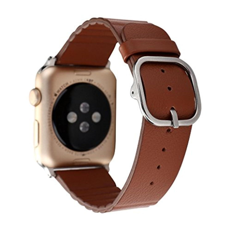 inverleeモダンファッションレザー時計ストラップブレスレット手首バンドfor Apple Watch 1 / 2 38 mm