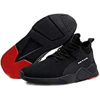 Loosnow 1 Pair Heavy Duty Sneaker Safety Work Shoes Breathable Anti-Slip Puncture Proof for Men