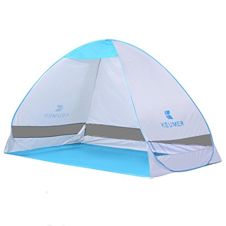 ワークショップ代表間隔Okiiting 2人用オートキャンプテント折りたたみ屋外ダブルテント釣りテント日よけテント防水、防雨、防蚊、安全で環境に優しい うまく設計された (Color : ブルー)
