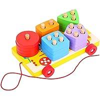 ETbotu 木製 早期教育ツール 子供用 幾何学 知能ボード 組み立てブロック LXMjj2-0921dratoy-DE0717B1A1