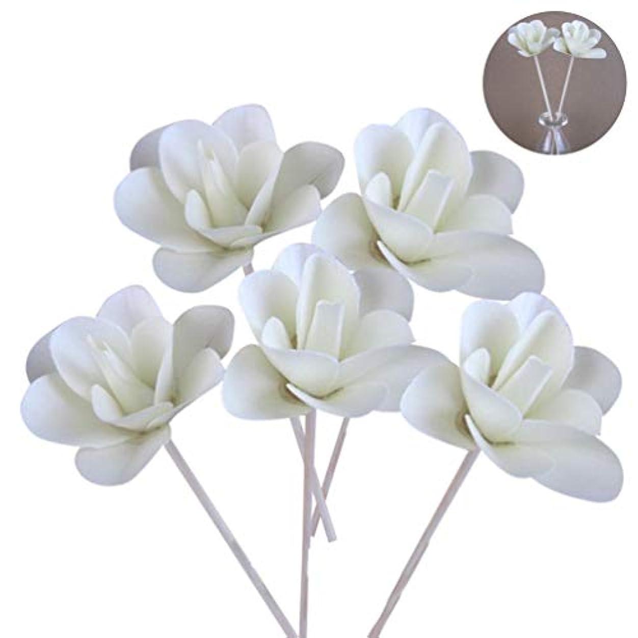 カリング集団整然とした(ライチ) Lychee 5本入り ラタンスティック 花 リードディフューザー用 リフィル 高品質 かわいい クラフト ホワイト