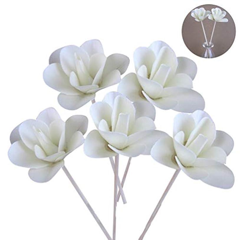 時折一人で地上の(ライチ) Lychee 5本入り ラタンスティック 花 リードディフューザー用 リフィル 高品質 かわいい クラフト ホワイト