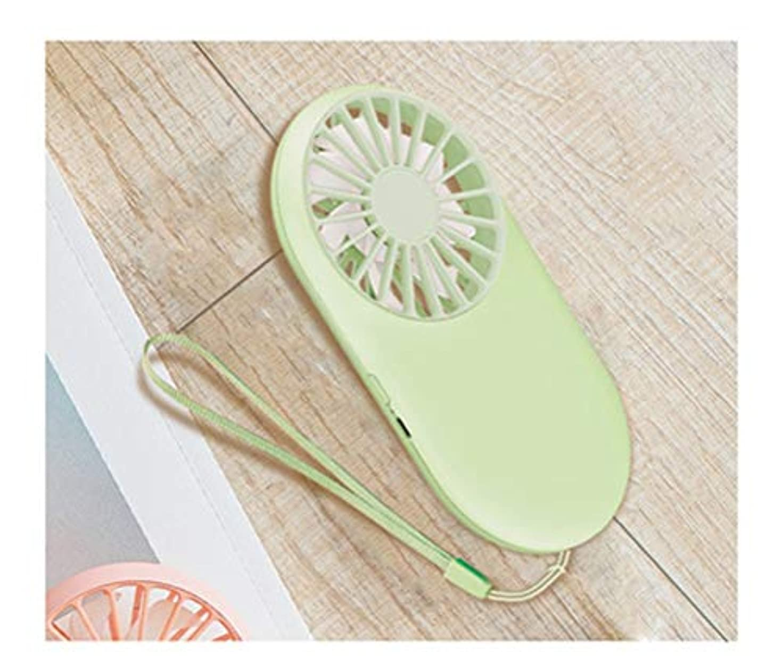 間違っている現実にはノベルティZCYX - 扇風機 ファンポケットファンUsb充電ミニハンドヘルドファン学生屋外ストラップ付きポータブル小型ファン(2ファンを含む) (Color : Green)