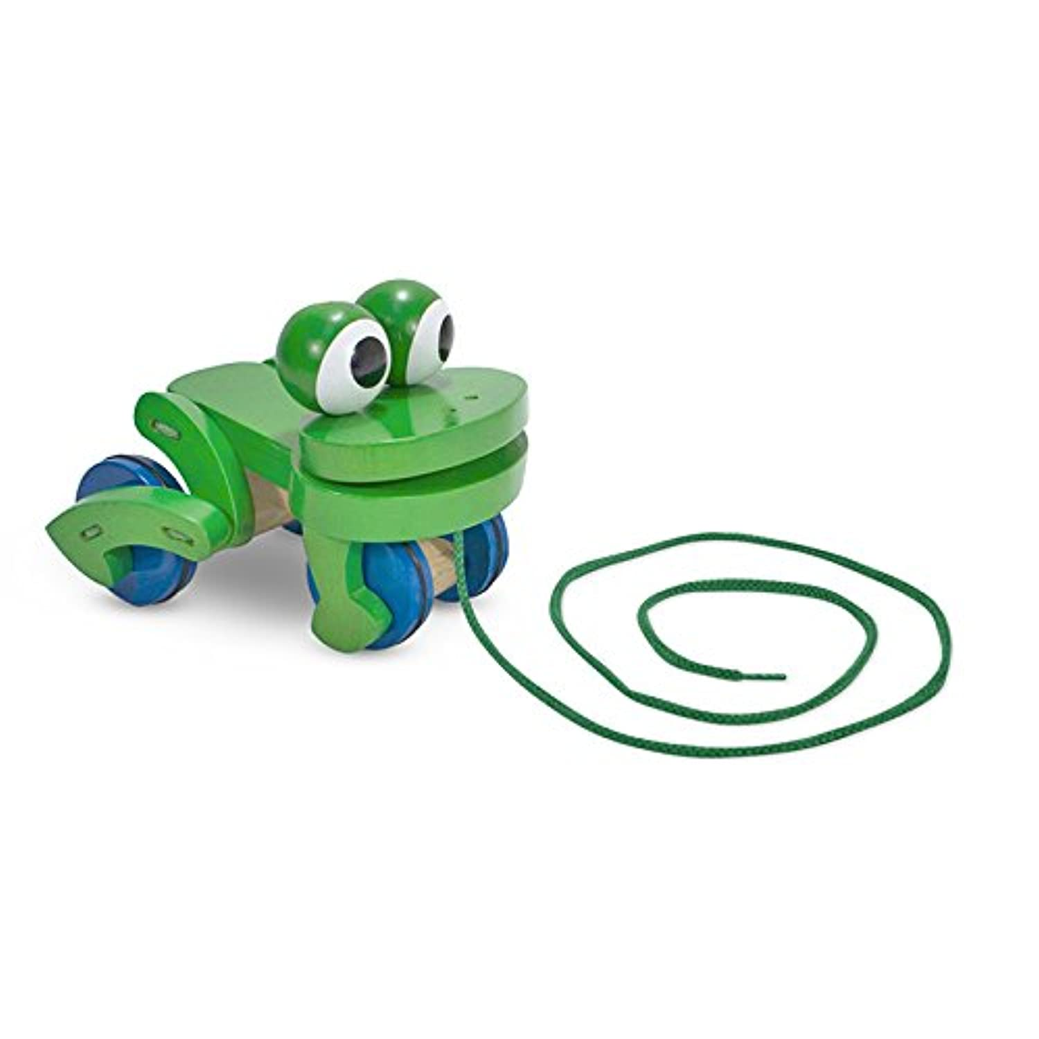 Melissa & Doug Frolicking Frog Pull Toy (Set of 6 )