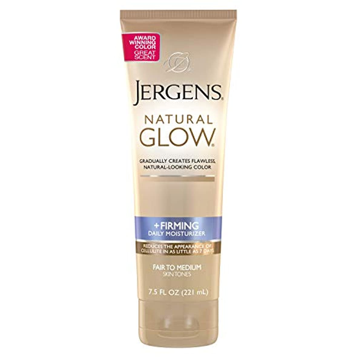 Natural Glow Firming Moisturizer for Fair to Mediu Jergens 7.5 oz Moisturizer For Unisex (並行輸入品)