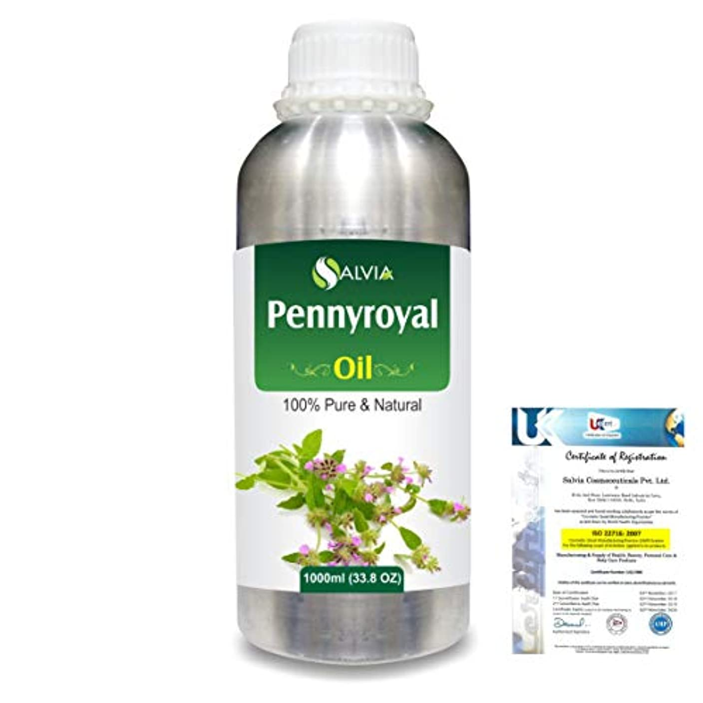 支配的ケーブル修士号Pennyroyal (Mentha pulegium) 100% Natural Pure Essential Oil 1000ml/33.8fl.oz.