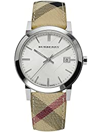 腕時計 バーバリー Burberry BU9025 Watch City Ladies - Silver Dial Stainless Steel Case Quartz Movement【並行輸入品】