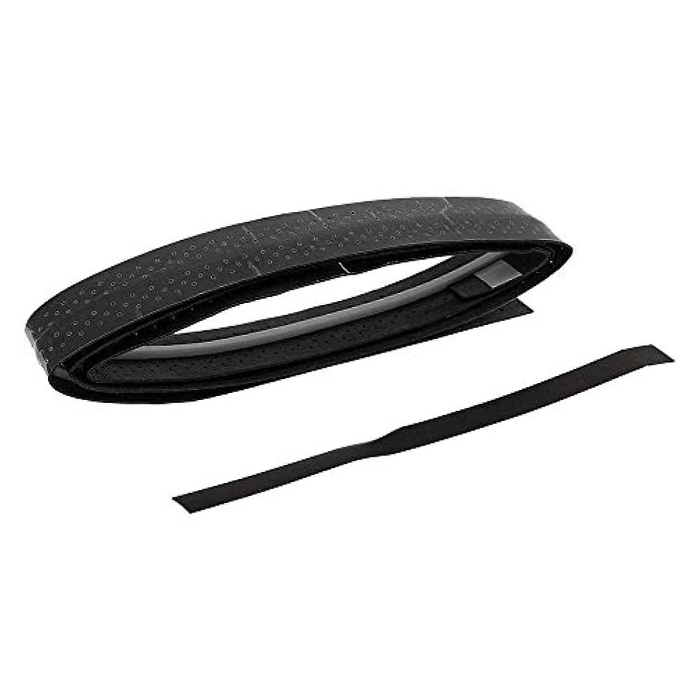 ペン流体保持Onior バドミントンラケットグリップグリップ汗吸収キールグリップハンド接着剤滑り止め弾性テニスグリップハンドルラップ2個ブラック