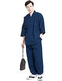 作務衣 さむえ メンズ 男性 日本製 綿 無地 紬織 久留米 ギフト 六花/ROCCA