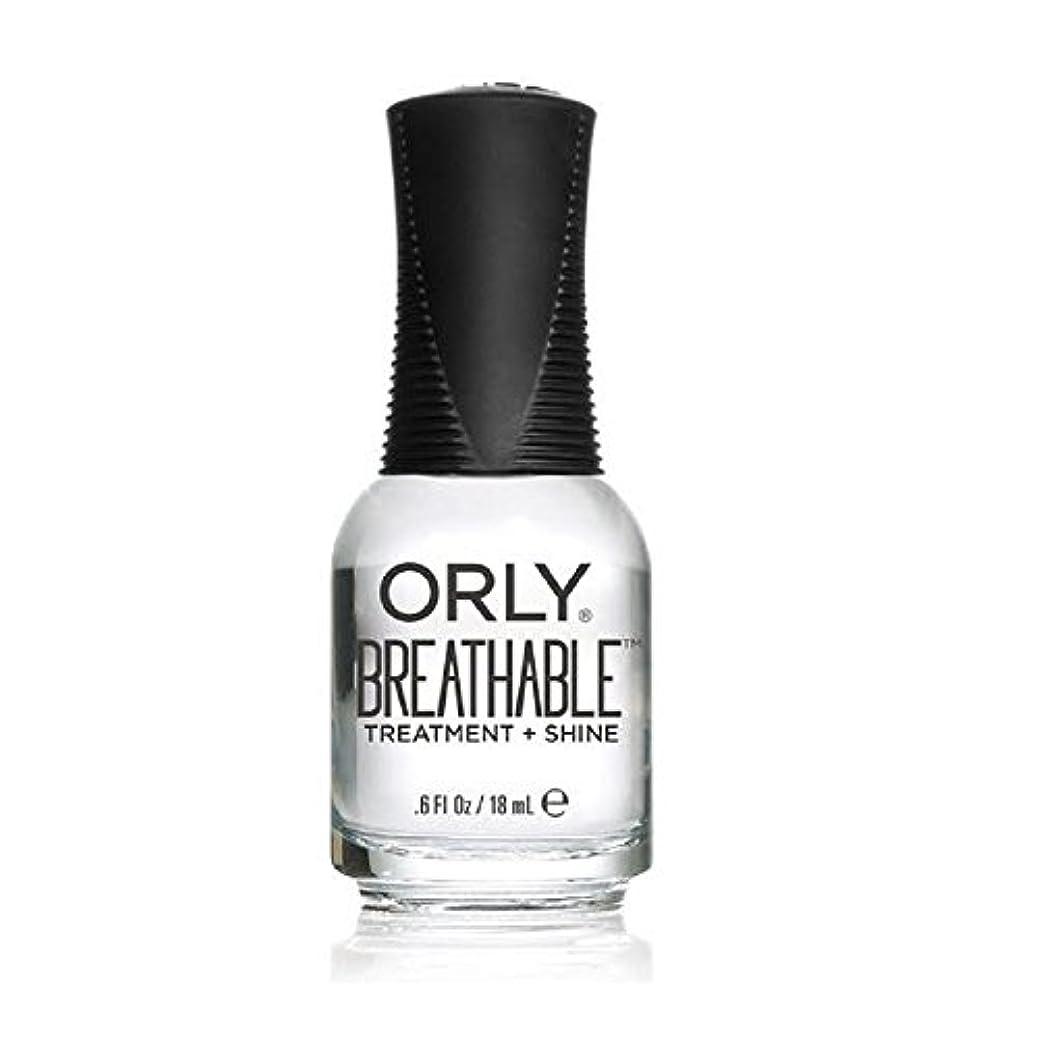 に付ける早熟プロットOrly Breathable Treatment + Color Nail Lacquer - Treatment + Shine - 0.6oz/18ml