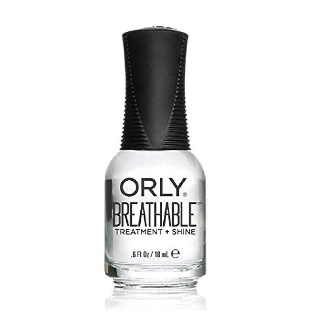 条件付きホバー最大化するOrly Breathable Treatment + Color Nail Lacquer - Treatment + Shine - 0.6oz/18ml