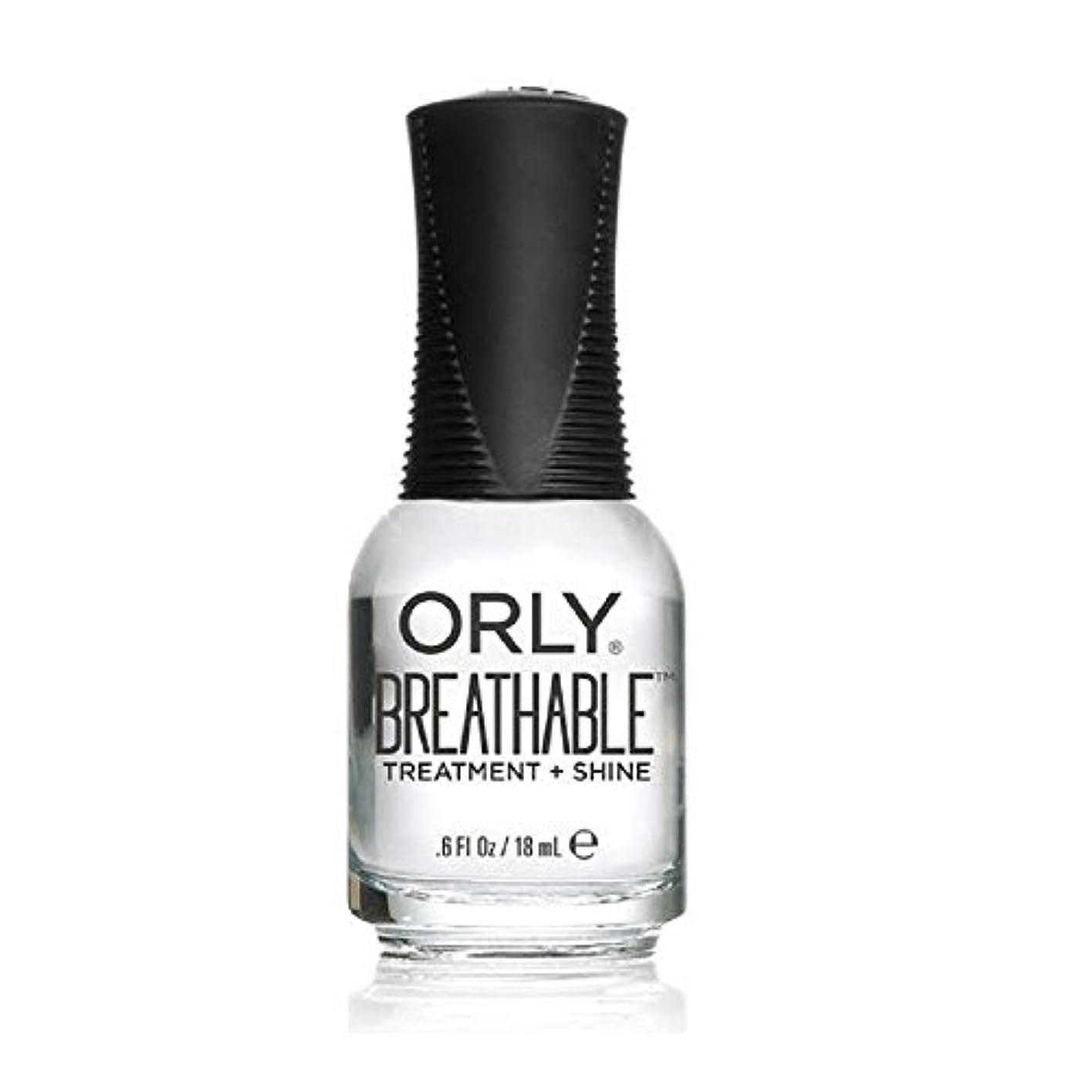 自発重力ホバーOrly Breathable Treatment + Color Nail Lacquer - Treatment + Shine - 0.6oz/18ml