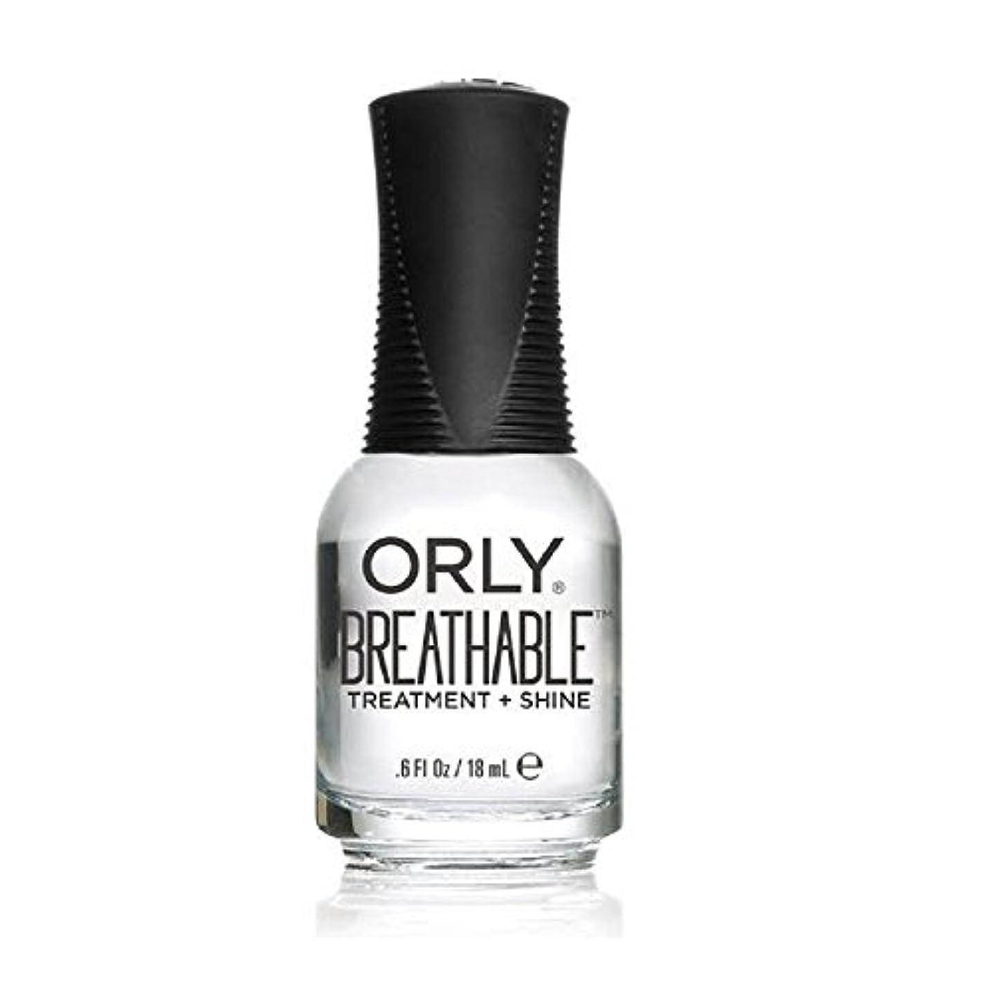 クッション見分ける立法Orly Breathable Treatment + Color Nail Lacquer - Treatment + Shine - 0.6oz/18ml