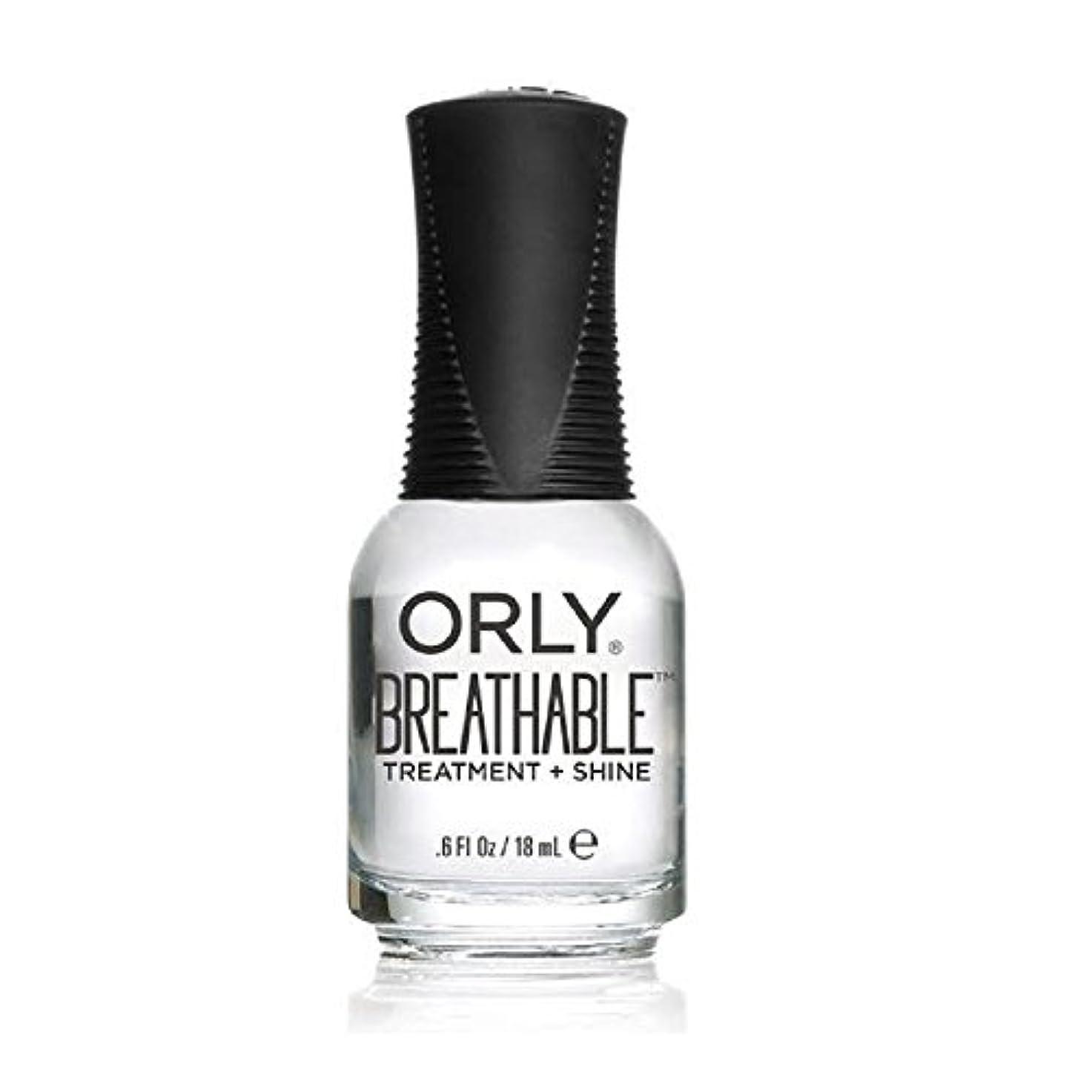 組液体リークOrly Breathable Treatment + Color Nail Lacquer - Treatment + Shine - 0.6oz/18ml