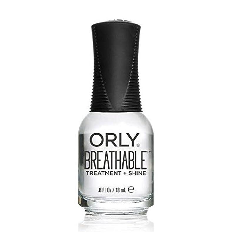歴史アラブ人矩形Orly Breathable Treatment + Color Nail Lacquer - Treatment + Shine - 0.6oz/18ml