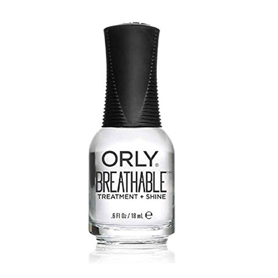 キャンセル入場料であるOrly Breathable Treatment + Color Nail Lacquer - Treatment + Shine - 0.6oz/18ml