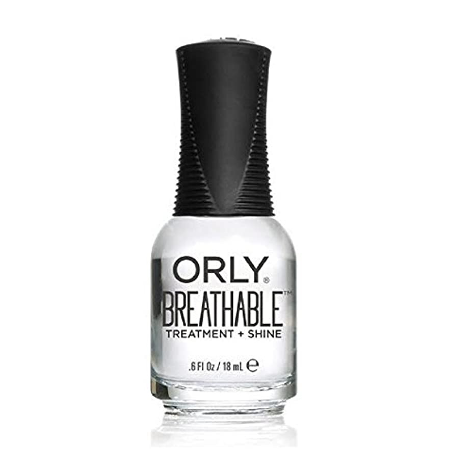 ネクタイ余暇オフセットOrly Breathable Treatment + Color Nail Lacquer - Treatment + Shine - 0.6oz/18ml
