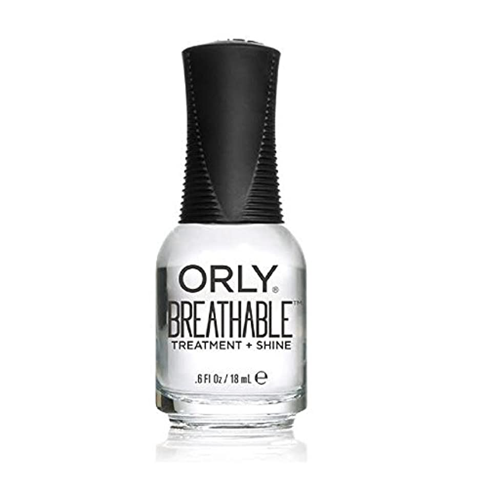提供された代表捨てるOrly Breathable Treatment + Color Nail Lacquer - Treatment + Shine - 0.6oz/18ml