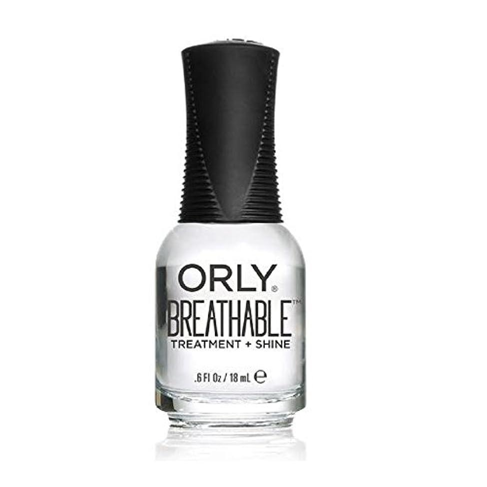 脅かす魅了する好戦的なOrly Breathable Treatment + Color Nail Lacquer - Treatment + Shine - 0.6oz/18ml