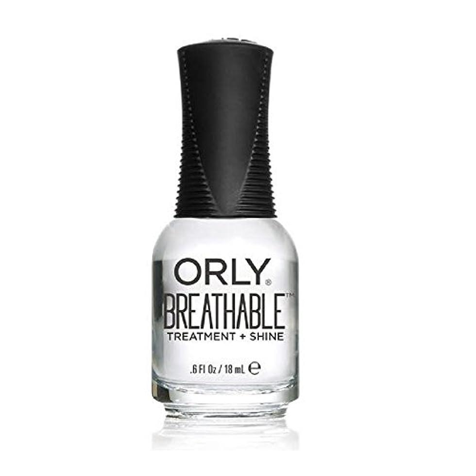 取り囲む運ぶ甘くするOrly Breathable Treatment + Color Nail Lacquer - Treatment + Shine - 0.6oz/18ml