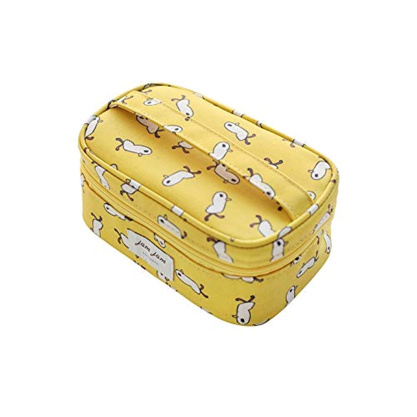 活性化権威マネージャー[LIVEWORK] JAMJAM makeup pouch (duck) ジェムジェムメイクポーチ(あひる) ブラッシュ メイクアップ イエロー 黄色