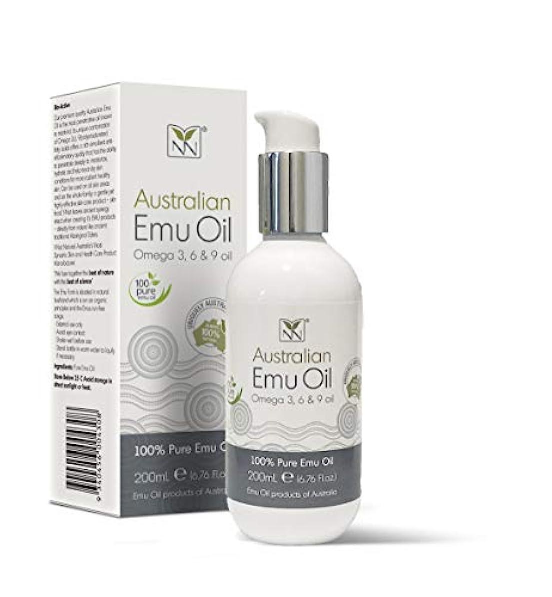 極貧削るなんでもY Not Natural エミューオイル EMU OIL 無添加100% 保湿性 浸透性 抜群 プレミアム品質 エミュー油 (200 ml)
