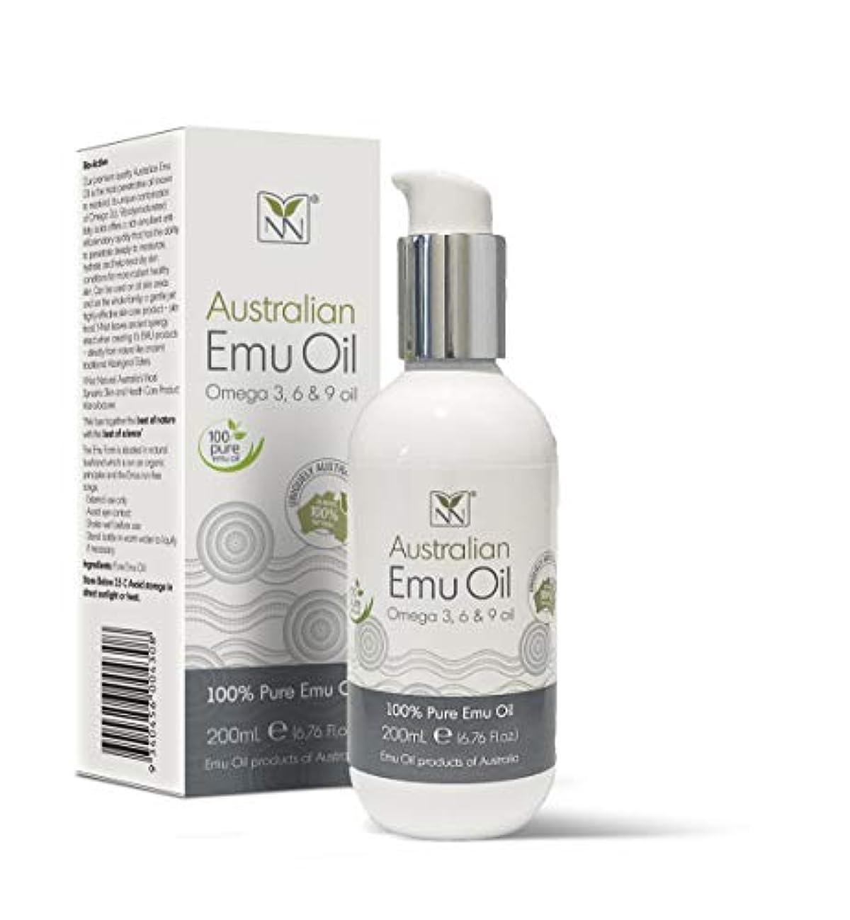 当社士気少しY Not Natural エミューオイル EMU OIL 無添加100% 保湿性 浸透性 抜群 プレミアム品質 エミュー油 (200 ml)