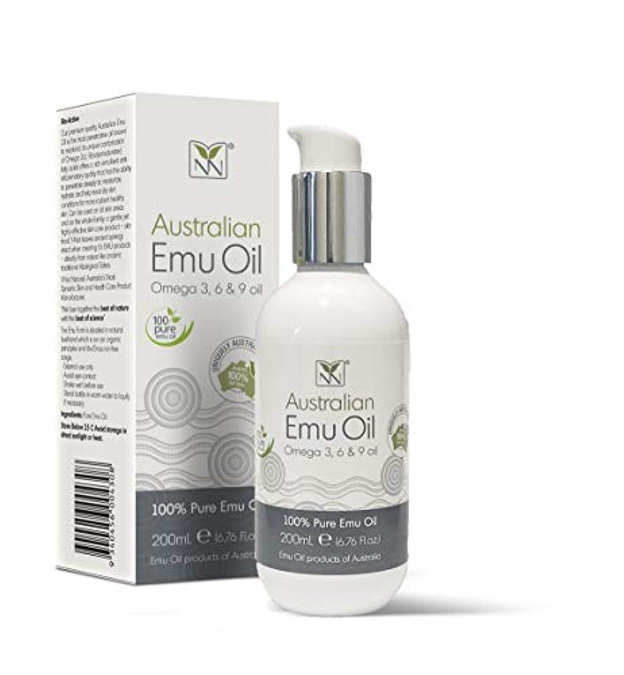 勧めるバンカー山岳Y Not Natural エミューオイル EMU OIL 無添加100% 保湿性 浸透性 抜群 プレミアム品質 エミュー油 (200 ml)