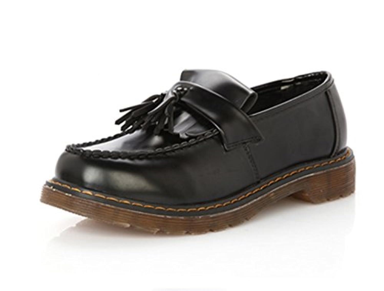 高級 革靴 レディース ビジネスシューズ 2色 レザー タッセル パンプス ローファー モカシン スリッポン