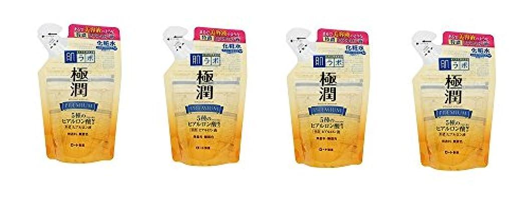 上昇聴覚障害者宅配便【まとめ買い】肌研 極潤プレミアム ヒアルロン液 つめかえ用 170mL×4個