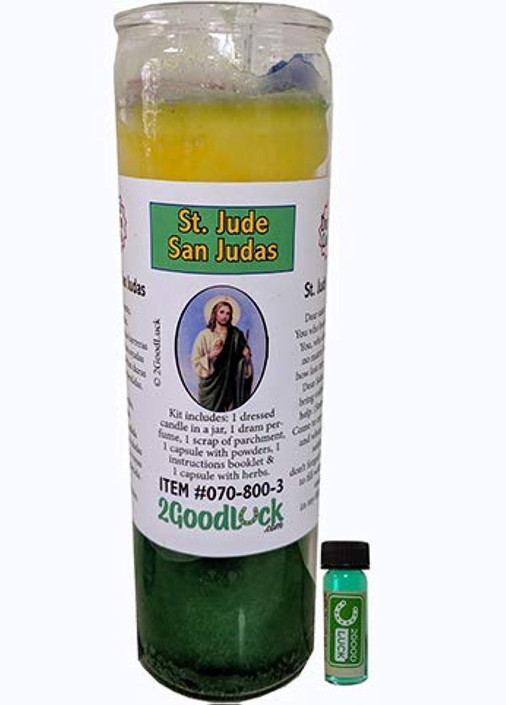 まばたきビヨン従うST JUDE Dressed Scented Candle – Veladora Preparada San Judas