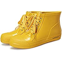 MEIGUIshop Rain Boots - Fashion Green Rubber Low rain Boots rain Boots