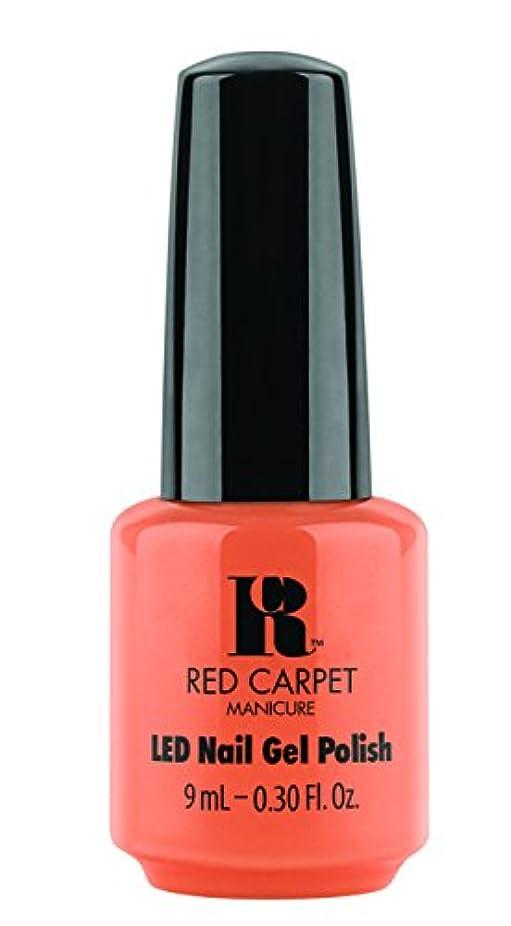 差別作詞家ブラザーRed Carpet Manicure - LED Nail Gel Polish - Staycation - 0.3oz / 9ml