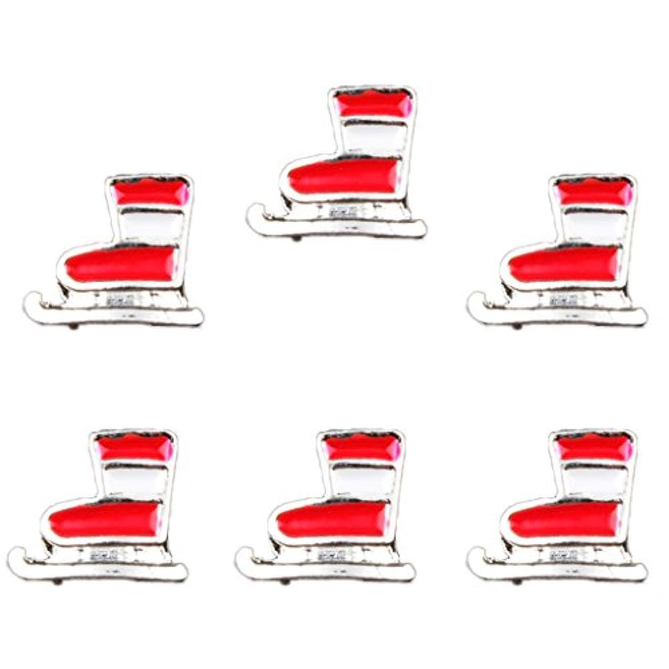 ホステス牛肉マニアックToygogo 20ピース/個カラフルな3Dクリスマスデザイン合金ネイルアートのヒントDIYデコレーションステッカーツール - タイプ3