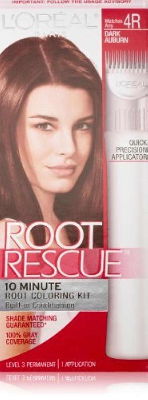 レルム思いやりのあるシンプルなRoot Rescue Dark Auburn by L'Oreal Paris Hair Color [並行輸入品]